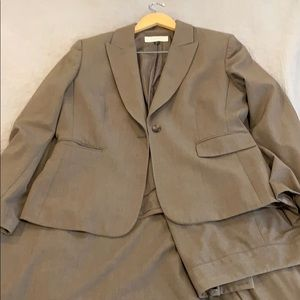 Three piece tahari suit skirt, pants, jacket